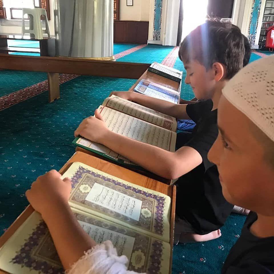 Yaz Okulu öğrencilerimiz ile birlikte Kuran öğretimimizden...