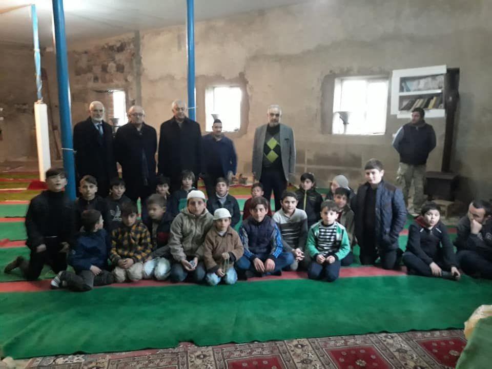 Başkanımız ve mütevelli heyet üyelerimizden Batum Gürcistan kız ve erkek kuran kurslarına ziyaret